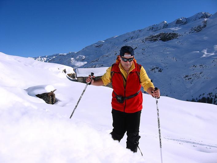 Foto: Andreas Koller / Ski Tour / Vom Zervreilasee auf das Frunthorn (3030m) / 09.01.2009 22:28:45