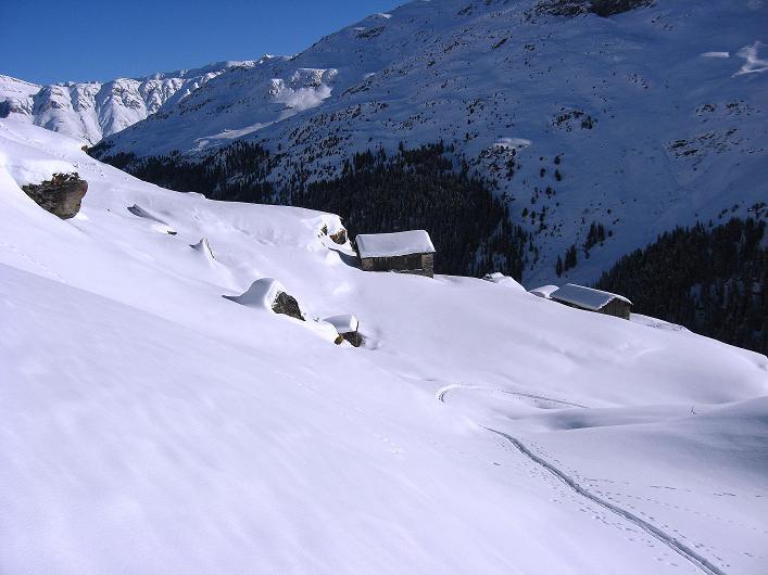 Foto: Andreas Koller / Ski Tour / Vom Zervreilasee auf das Frunthorn (3030m) / Fruntstafel / 09.01.2009 22:28:29