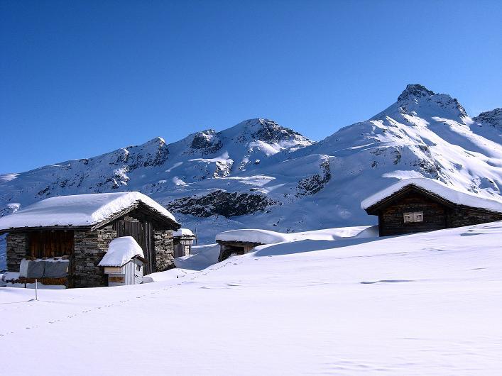 Foto: Andreas Koller / Ski Tour / Vom Zervreilasee auf das Frunthorn (3030m) / 09.01.2009 22:27:59