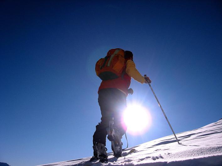 Foto: Andreas Koller / Ski Tour / Vom Zervreilasee auf das Frunthorn (3030m) / 09.01.2009 22:24:58