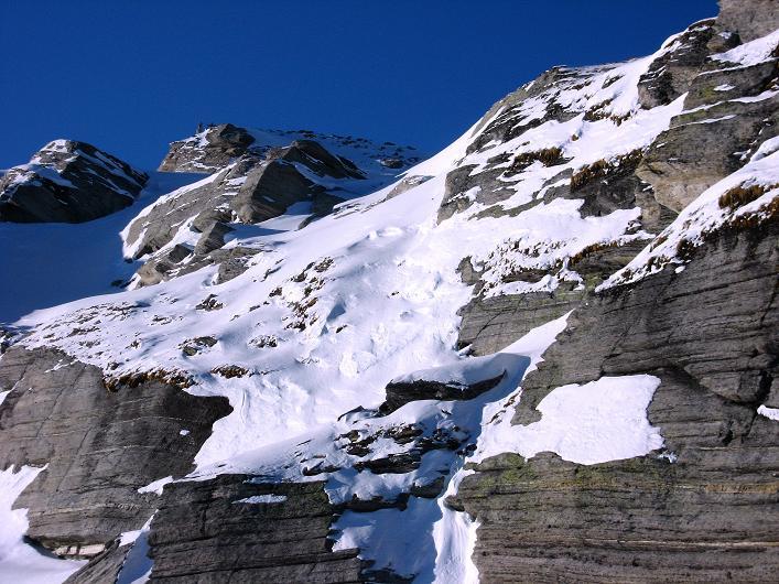 Foto: Andreas Koller / Ski Tour / Vom Zervreilasee auf das Frunthorn (3030m) / 09.01.2009 22:24:05