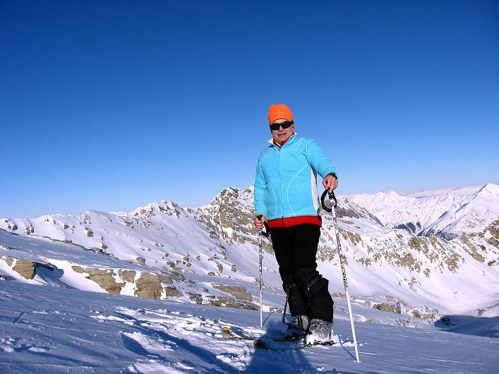 Foto: Andreas Koller / Ski Tour / Vom Zervreilasee auf das Frunthorn (3030m) / 09.01.2009 22:23:40