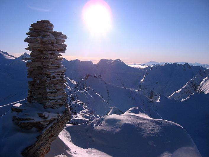 Foto: Andreas Koller / Ski Tour / Vom Zervreilasee auf das Frunthorn (3030m) / 09.01.2009 22:22:27