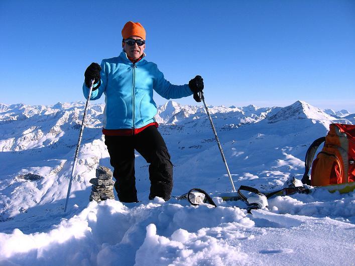 Foto: Andreas Koller / Ski Tour / Vom Zervreilasee auf das Frunthorn (3030m) / 09.01.2009 22:21:55