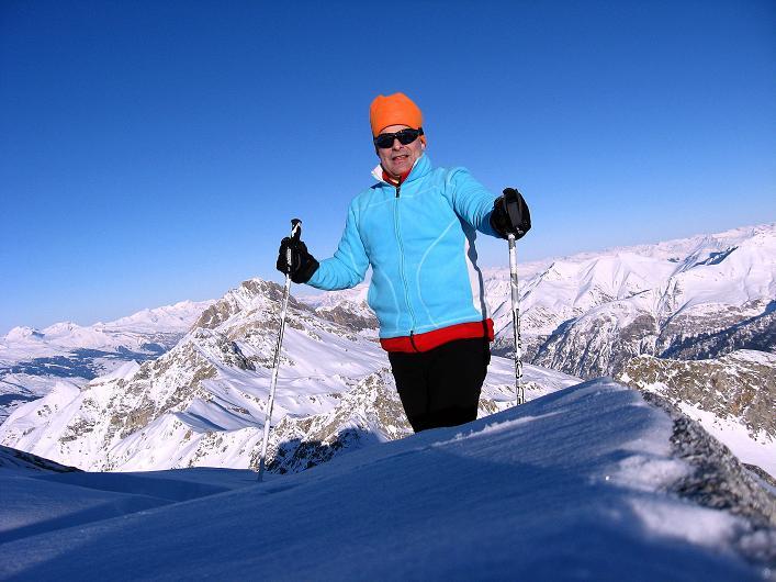 Foto: Andreas Koller / Ski Tour / Vom Zervreilasee auf das Frunthorn (3030m) / 09.01.2009 22:21:33