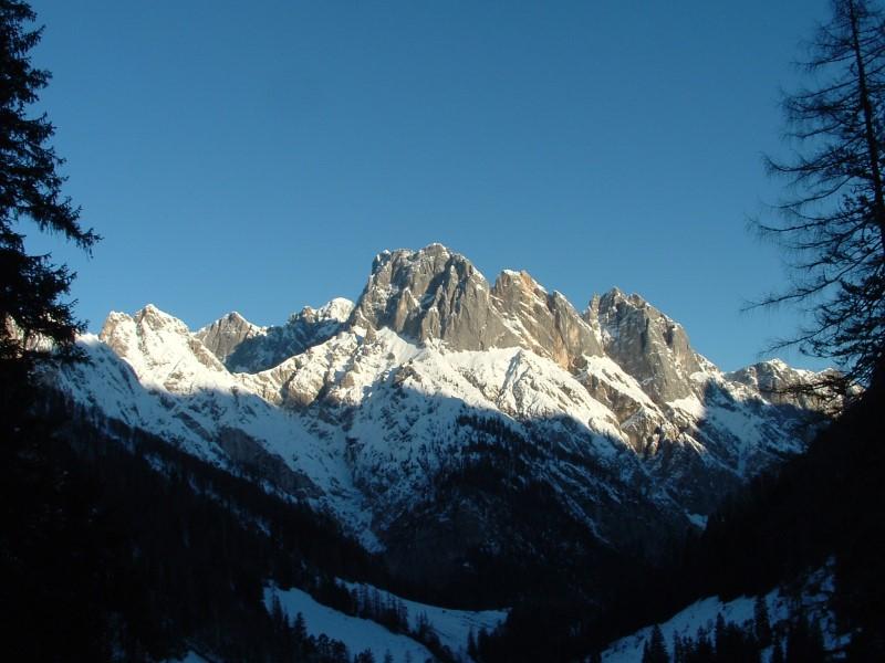 Foto: Johann Kussegg / Ski Tour / Kammerlinghorn (2484m) / Im Aufstieg zum Kammerlinghorn mit Blick zur Reiteralm mit Stadelhorn, Mühlsturzhorn und Grundübelhorn / 09.01.2009 11:13:37
