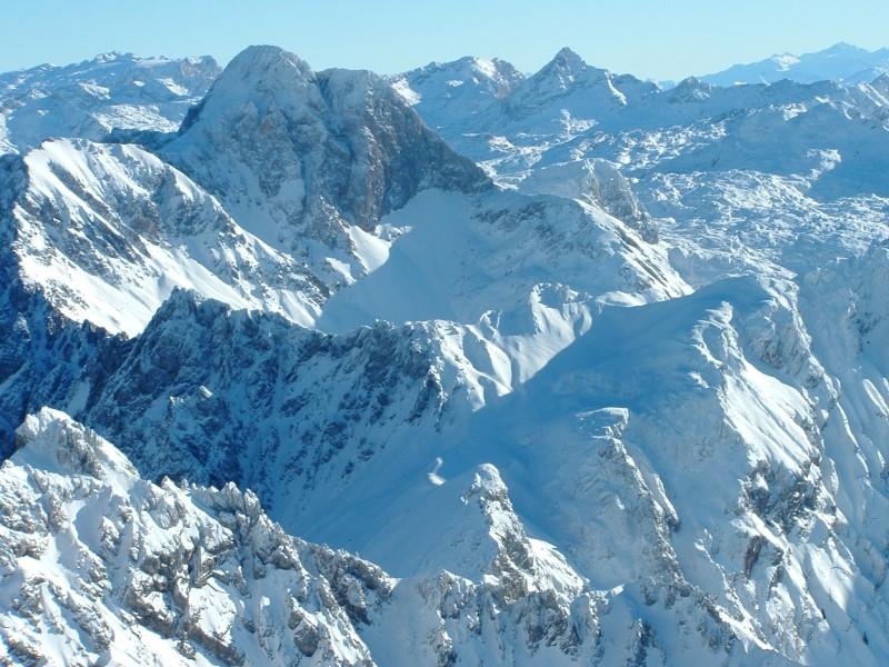 Foto: Johann Kussegg / Ski Tour / Kammerlinghorn (2484m) / Der Blick nach Südosten zum Gr. Hundstod und zur Schönfeldspitze / 09.01.2009 11:33:09