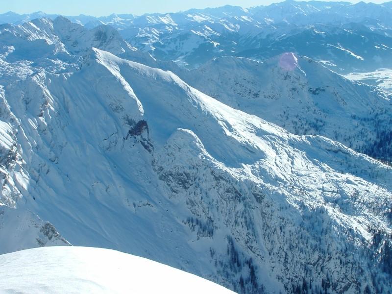 Foto: Johann Kussegg / Ski Tour / Kammerlinghorn (2484m) / Das Seehorn im Steineren Meer ein Nachbargipfel des Kammerlinghorns / 09.01.2009 11:35:08