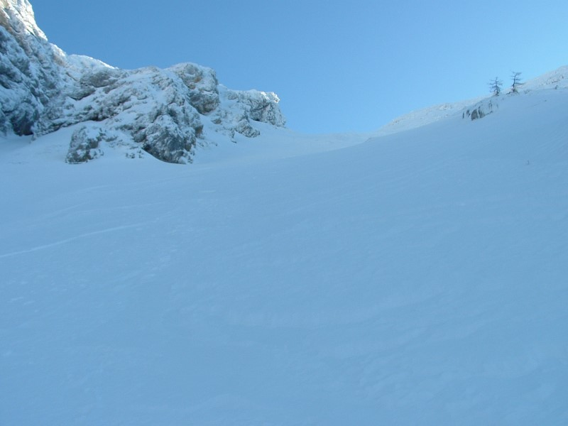 Foto: Johann Kussegg / Ski Tour / Kammerlinghorn (2484m) / Abfahrt in der Nordrinne des Karkogels / 09.01.2009 11:37:22
