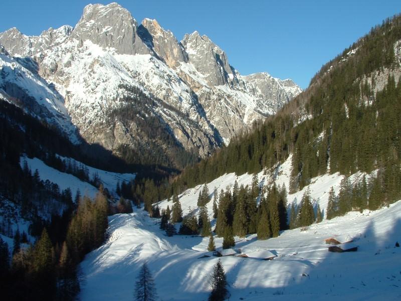 Foto: Johann Kussegg / Ski Tour / Kammerlinghorn (2484m) / zurück an der Bindalm nahe dem Hirschbichlpaß / 09.01.2009 11:40:03