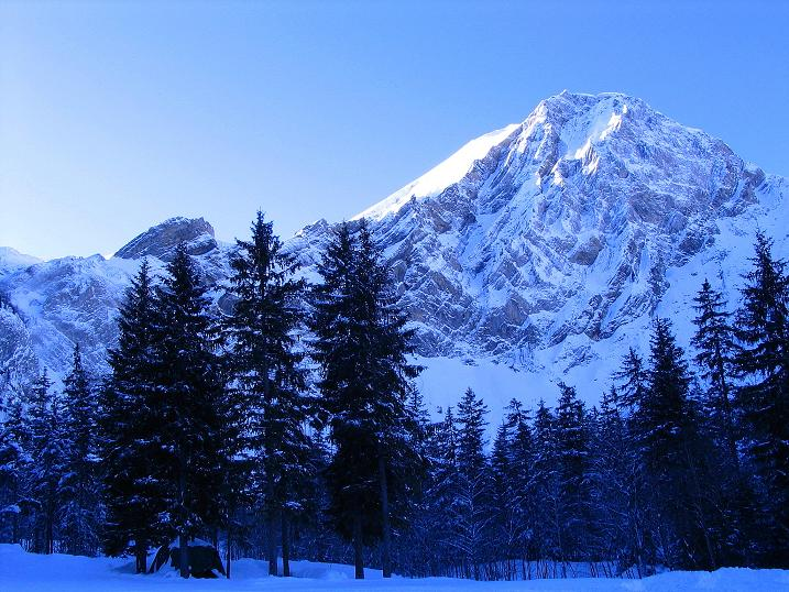Foto: Andreas Koller / Ski Tour / Von der Engstligenalp auf das Chindbettihorn (2691m) / Talschluss Birg / 09.01.2009 23:51:01