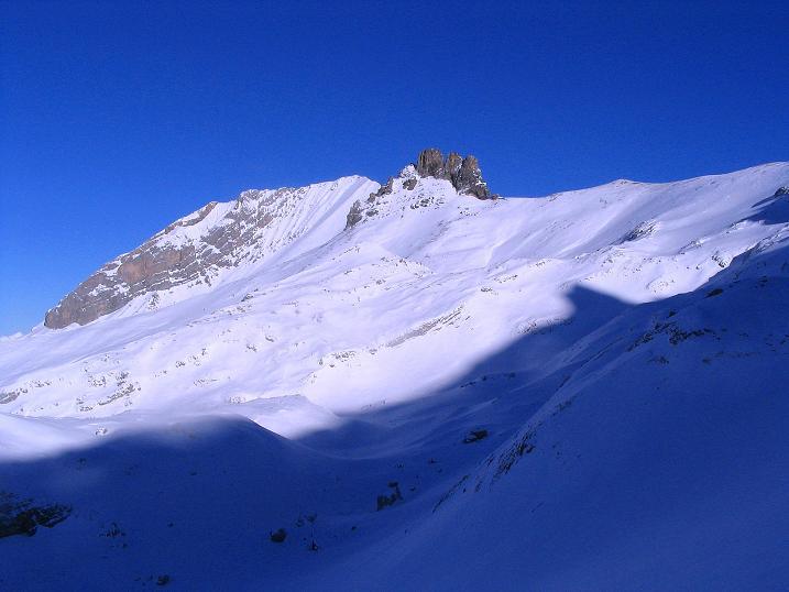 Foto: Andreas Koller / Ski Tour / Von der Engstligenalp auf das Chindbettihorn (2691m) / 09.01.2009 23:49:45
