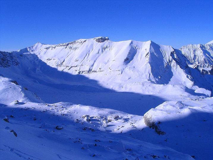 Foto: Andreas Koller / Ski Tour / Von der Engstligenalp auf das Chindbettihorn (2691m) / 09.01.2009 23:49:23