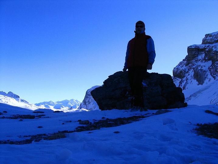 Foto: Andreas Koller / Ski Tour / Von der Engstligenalp auf das Chindbettihorn (2691m) / Am Chindbettipass / 09.01.2009 23:48:38