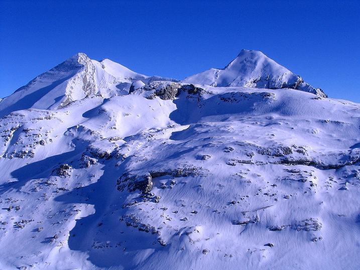 Foto: Andreas Koller / Ski Tour / Von der Engstligenalp auf das Chindbettihorn (2691m) / Blümlisalp (3661 m) / 09.01.2009 23:46:29