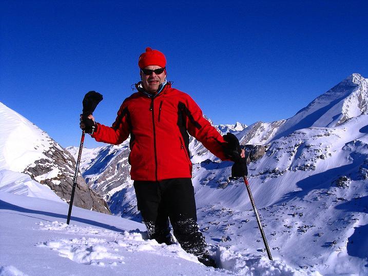 Foto: Andreas Koller / Ski Tour / Von der Engstligenalp auf das Chindbettihorn (2691m) / Am Chindbettihorn / 09.01.2009 23:45:31
