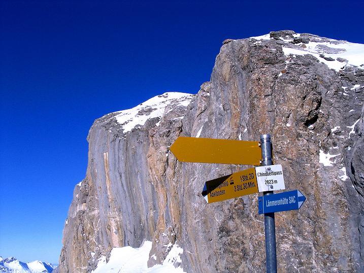 Foto: Andreas Koller / Ski Tour / Von der Engstligenalp auf das Chindbettihorn (2691m) / Zurück am Chindbettipass / 09.01.2009 23:39:09