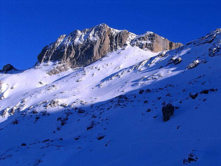 Foto: Andreas Koller / Ski Tour / Von der Engstligenalp auf das Chindbettihorn (2691m) / Chindbettihorn von der Engstligenalp / 09.01.2009 23:38:19