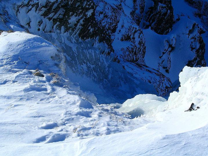 Foto: Andreas Koller / Ski Tour / Von der Engstligenalp auf das Chindbettihorn (2691m) / Eisfall / 09.01.2009 23:37:58