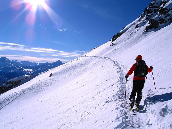 Foto: Andreas Koller / Ski Tour / Von der Lauchernalp aufs Hockenhorn (3293m) / 12.01.2009 19:38:25