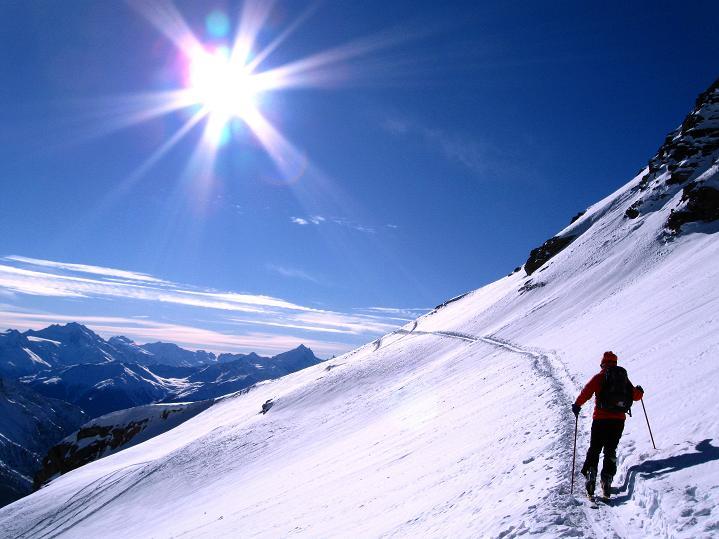 Foto: Andreas Koller / Ski Tour / Von der Lauchernalp aufs Hockenhorn (3293m) / 12.01.2009 19:36:37
