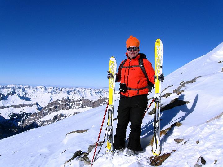 Foto: Andreas Koller / Ski Tour / Von der Lauchernalp aufs Hockenhorn (3293m) / Skidepot P.3180 / 12.01.2009 19:33:28
