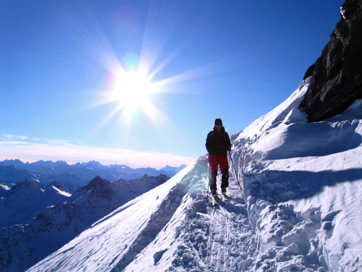 Foto: Andreas Koller / Ski Tour / Von der Lauchernalp aufs Hockenhorn (3293m) / 12.01.2009 19:23:02