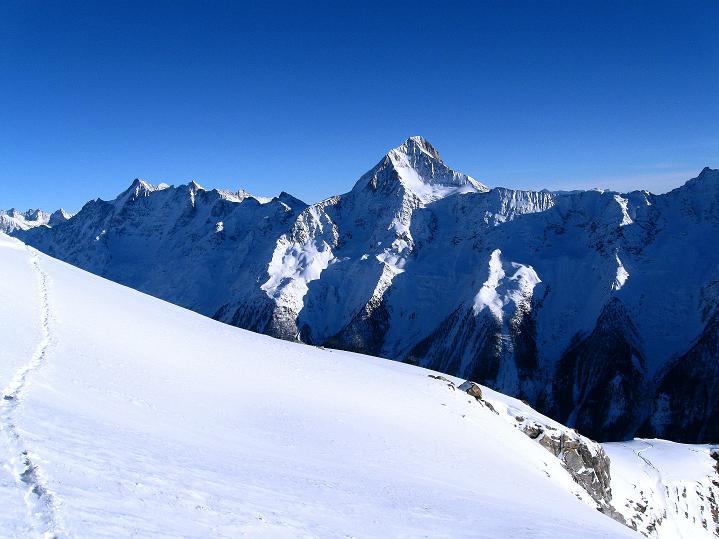 Foto: Andreas Koller / Ski Tour / Von der Lauchernalp aufs Hockenhorn (3293m) / Bietschhorn (3934 m) / 12.01.2009 19:22:55