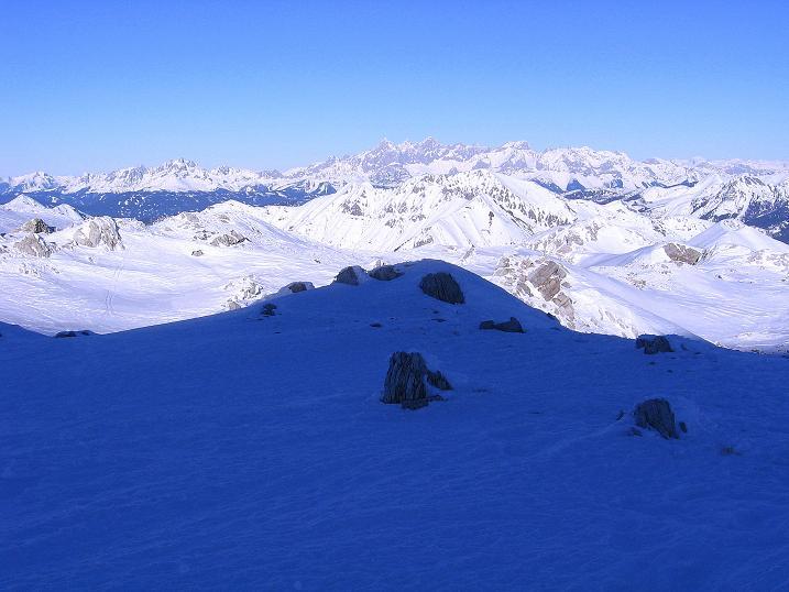 Foto: Andreas Koller / Ski Tour / Rassige Tour aufs Kleine Mosermandl (2538m) / Dachstein (2996 m) und Bischofsmütze (2458 m) / 12.01.2009 19:12:19