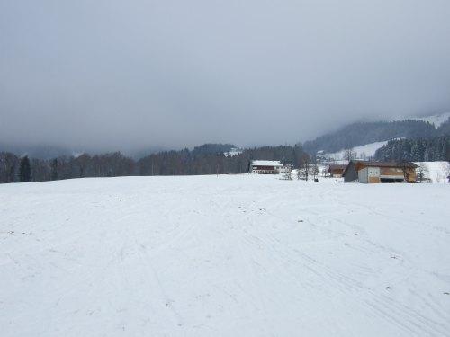 Foto: hofchri / Ski Tour / 4 Gipfeltour in der Osterhorngruppe ab der Gaißau / Aufstieg über den freien Hang / 13.01.2009 12:29:56