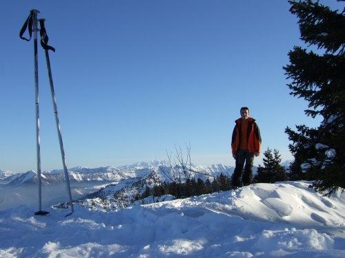 Foto: hofchri / Ski Tour / 4 Gipfeltour in der Osterhorngruppe ab der Gaißau / Gipfel Eibleck (1.528 m) ohne Gipfelkreuz / 13.01.2009 12:33:56