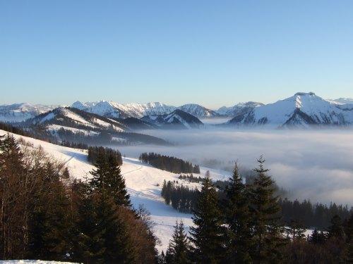 Foto: hofchri / Ski Tour / 4 Gipfeltour in der Osterhorngruppe ab der Gaißau / Panorama vom Spielberg / 13.01.2009 12:37:06