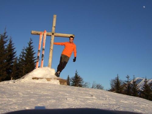 Foto: hofchri / Ski Tour / 4 Gipfeltour in der Osterhorngruppe ab der Gaißau / Gipfel Spielberg (1.428 m) / 13.01.2009 12:37:46