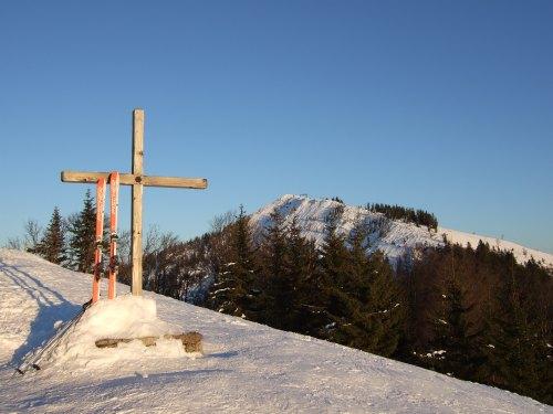 Foto: hofchri / Ski Tour / 4 Gipfeltour in der Osterhorngruppe ab der Gaißau / Spielberg mit Wieserhörndl im Hintergrund / 13.01.2009 12:38:25