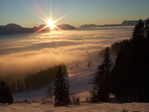 Foto: hofchri / Ski Tour / 4 Gipfeltour in der Osterhorngruppe ab der Gaißau / Aufstieg zum Wieserhörndl / 13.01.2009 12:39:13