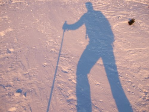 Foto: hofchri / Ski Tour / 4 Gipfeltour in der Osterhorngruppe ab der Gaißau / die Schatten werden länger / 13.01.2009 12:39:59