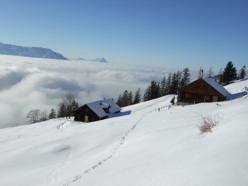 Foto: hofchri / Ski Tour / 4 Gipfeltour in der Osterhorngruppe ab der Gaißau / Eibleckalm / 13.01.2009 12:31:47