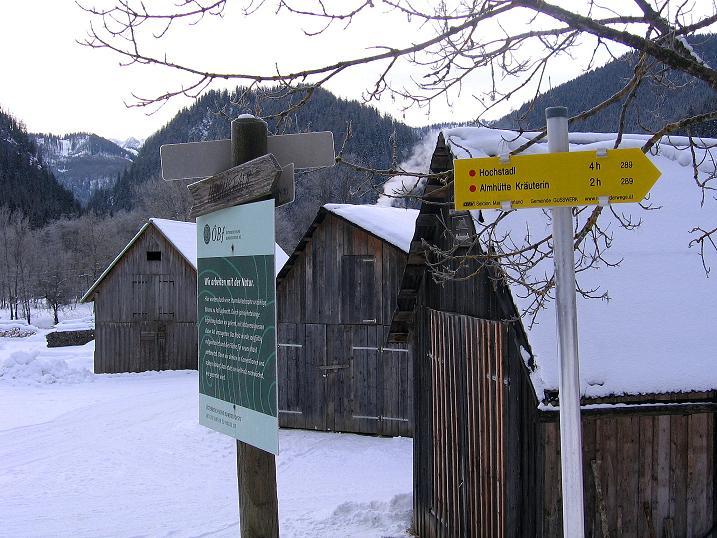 Foto: Andreas Koller / Ski Tour / Durch das Nappental auf die Kräuterin (1919m) / Ausgangspunkt Fangbrücke in Dürradmer / 18.01.2009 23:37:20
