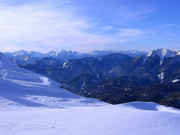 Foto: Andreas Koller / Ski Tour / Durch das Nappental auf die Kräuterin (1919m) / Weiter Blick nach W / 18.01.2009 23:28:55