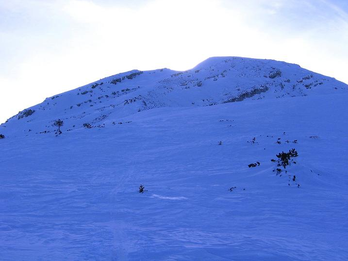 Foto: Andreas Koller / Ski Tour / Durch das Nappental auf die Kräuterin (1919m) / Gipfelaufbau / 18.01.2009 23:28:13