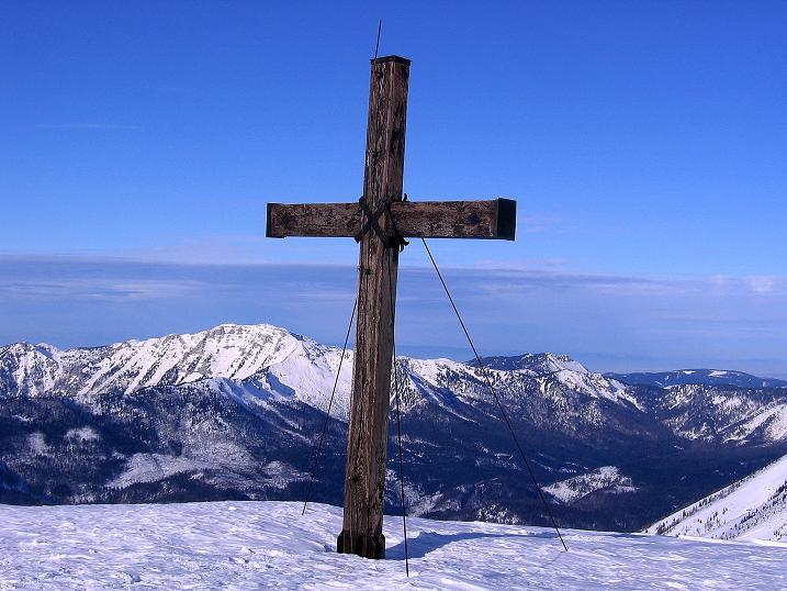 Foto: Andreas Koller / Ski Tour / Durch das Nappental auf die Kräuterin (1919m) / Am Hochstadl-Gipfel / 18.01.2009 23:26:08
