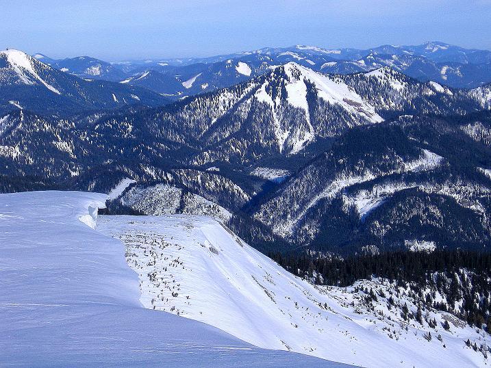 Foto: Andreas Koller / Ski Tour / Durch das Nappental auf die Kräuterin (1919m) / Blick nach O / 18.01.2009 23:24:39