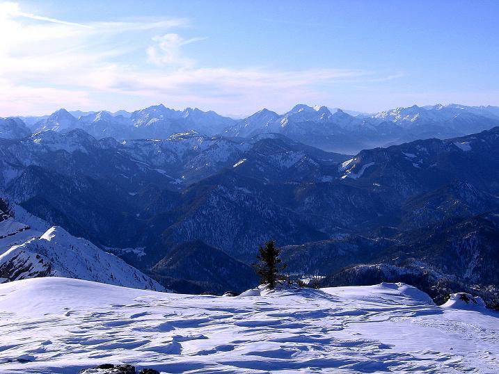 Foto: Andreas Koller / Ski Tour / Durch das Nappental auf die Kräuterin (1919m) / Blick in die Gesäuseberge / 18.01.2009 23:23:14