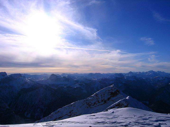 Foto: Andreas Koller / Ski Tour / Durch das Nappental auf die Kräuterin (1919m) / Ausblick nach SW / 18.01.2009 23:22:41