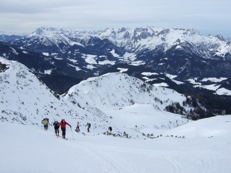 Foto: hofchri / Ski Tour / Kampl (2001m) und Losegg (1647m) von Annaberg über Mauerreith / das Steilstück beginnt / 19.01.2009 20:49:07