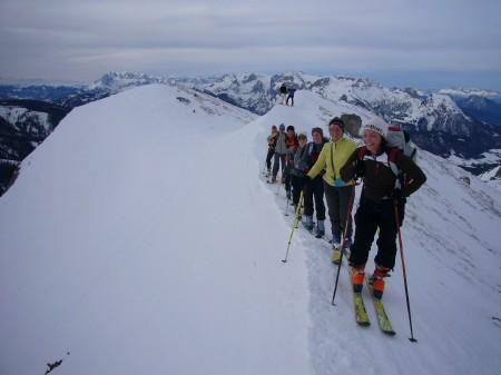 Foto: hofchri / Ski Tour / Kampl (2001m) und Losegg (1647m) von Annaberg über Mauerreith / im Gänsemarsch über den Grat / 19.01.2009 20:51:23