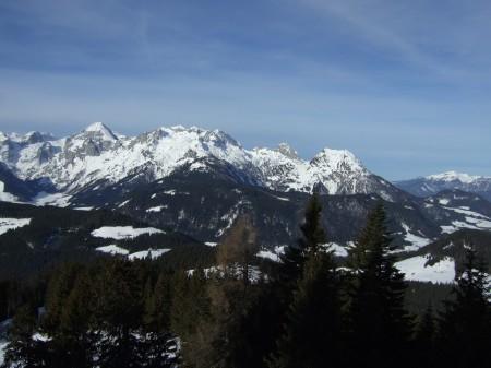 Foto: hofchri / Ski Tour / Kampl (2001m) und Losegg (1647m) von Annaberg über Mauerreith / Blick zum Tennengebirge / 19.01.2009 20:46:24