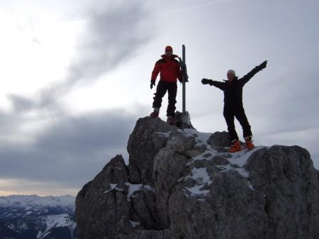Foto: hofchri / Ski Tour / Kampl (2001m) und Losegg (1647m) von Annaberg über Mauerreith / am Gipfel / 19.01.2009 20:53:07