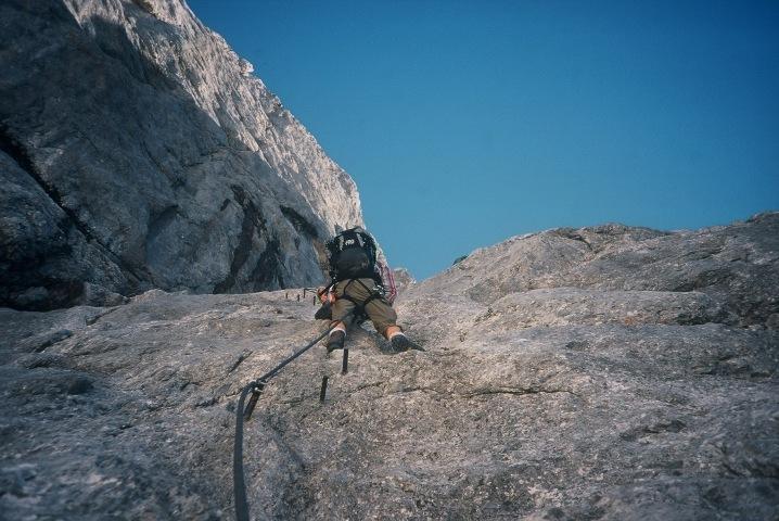 Foto: Manfred Karl / Klettersteig Tour / Johann Klettersteig auf die Dachsteinwarte / Große Rampe / 22.01.2009 21:31:01