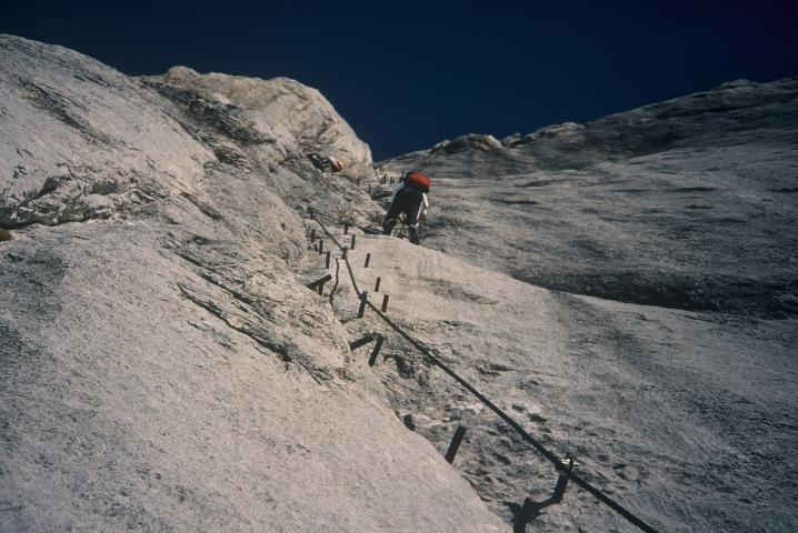 Foto: Manfred Karl / Klettersteig Tour / Johann Klettersteig auf die Dachsteinwarte / Der lange und stachelige Igelweg ;-) / 22.01.2009 21:27:45